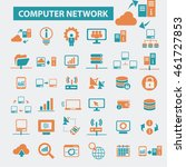 computer network icons | Shutterstock .eps vector #461727853