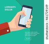 vector illustration of hand... | Shutterstock .eps vector #461729149