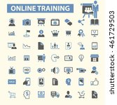 online training icons | Shutterstock .eps vector #461729503