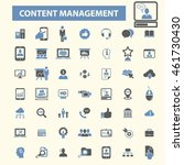 content management icons | Shutterstock .eps vector #461730430