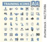 training icons | Shutterstock .eps vector #461731486