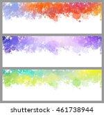 colorful splash set. creative... | Shutterstock .eps vector #461738944