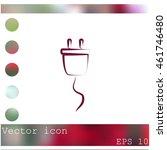 plug vector icon | Shutterstock .eps vector #461746480