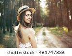 portrait of a young beautiful... | Shutterstock . vector #461747836