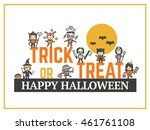 halloween card for costume... | Shutterstock .eps vector #461761108