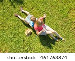 family on nature  mother...   Shutterstock . vector #461763874