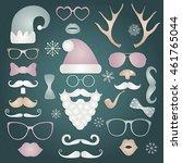 hipster style christmas... | Shutterstock .eps vector #461765044