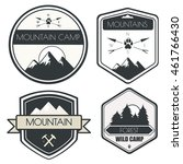 vector set of camping and... | Shutterstock .eps vector #461766430