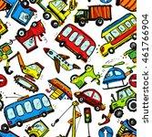funny cars. kids seamless... | Shutterstock .eps vector #461766904