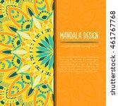 vector mandala decor for your... | Shutterstock .eps vector #461767768