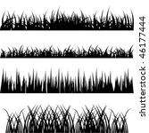 grass vector set | Shutterstock .eps vector #46177444