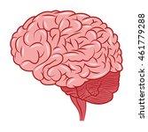 flat design human brain icon... | Shutterstock .eps vector #461779288