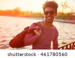 closeup of stylish handsome... | Shutterstock . vector #461780560