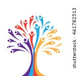 human community concept tree... | Shutterstock .eps vector #461782513