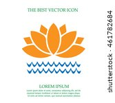 lotus flower on water vector... | Shutterstock .eps vector #461782684