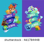 school background. colorful... | Shutterstock .eps vector #461784448