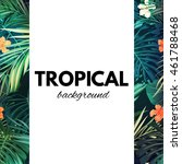 bright hawaiian design with...   Shutterstock .eps vector #461788468
