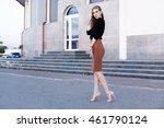 fashionable female model in... | Shutterstock . vector #461790124