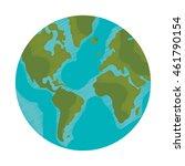 flat design earth globe icon... | Shutterstock .eps vector #461790154