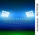 stadium and lights background | Shutterstock .eps vector #461790238