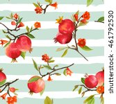 seamless floral pattern.... | Shutterstock .eps vector #461792530