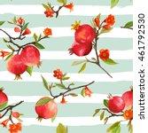Seamless Pattern. Pomegranate...
