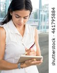 successful businesswoman or...   Shutterstock . vector #461795884