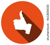 thumbs up icon  vector  icon...