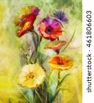 Watercolor Painting Flowers....