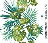 seamless pattern of  jungle... | Shutterstock .eps vector #461807473