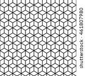 cube black and white seamless... | Shutterstock .eps vector #461807980