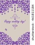 beautiful wedding paper... | Shutterstock .eps vector #461811184