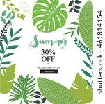 summer sale banner and poster | Shutterstock .eps vector #461814154