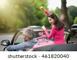 a cheerful couple going on a... | Shutterstock . vector #461820040