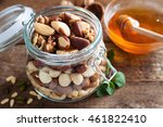 Assortment Of Nuts In A Glass...