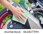 hand with man cleaning... | Shutterstock . vector #461827594