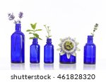 Blue Bottles Of Essential Oil...