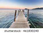 Sunset At Ionian Sea On...