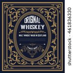 vintage label for whiskey. you... | Shutterstock .eps vector #461836330