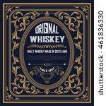vintage label for whiskey. you... | Shutterstock .eps vector #461836330