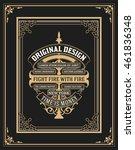 old design with frames set | Shutterstock .eps vector #461836348