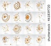 bauhaus art  set of modular... | Shutterstock .eps vector #461839720