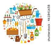 vector set flat. tools for... | Shutterstock .eps vector #461841658