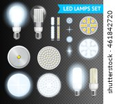 realistic turned on and off led ... | Shutterstock .eps vector #461842720