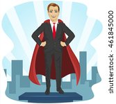 businessman dressed like... | Shutterstock .eps vector #461845000
