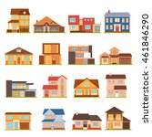 decorative collection of modern ...   Shutterstock .eps vector #461846290