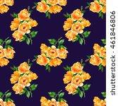 seamless pattern with orange...   Shutterstock . vector #461846806