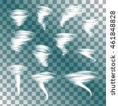 tornado on transparent... | Shutterstock .eps vector #461848828