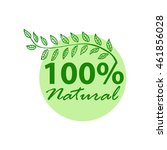 label for organic product ... | Shutterstock .eps vector #461856028
