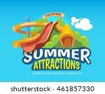 emblem of water hills in an... | Shutterstock . vector #461857330